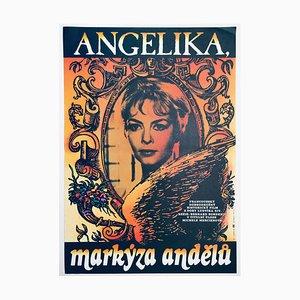 Vintage Angelica Filmposter von Jan Jiskra, 1986