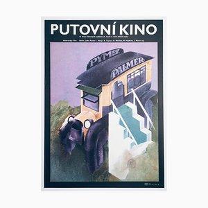 Poster del film The Picture Show Man vintage di Eliška Konopiská, 1977