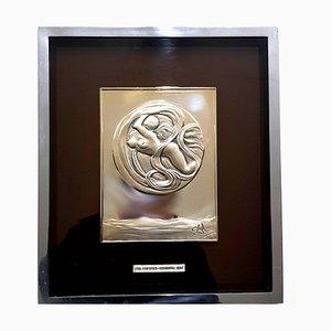 Bassorilievo Space Eve in argento di Salvador Dali, 1977