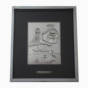 Homage To Philosophie Relief aus Silber von Salvador Dali, 1977