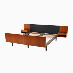 Mid-Century Danish Teak Double Bed by Hans J. Wegner for Getama