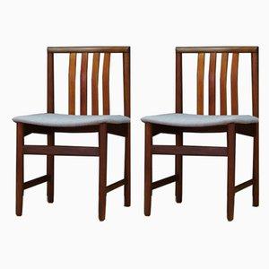 Esszimmerstühle aus Teak, 1960er, 2er Set