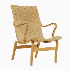 Beech Eva Lounge Chair by Bruno Mathsson for Firma Karl Mathsson, 1976