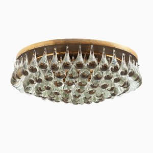Lampada da soffitto vintage a incasso in vetro di Palwa