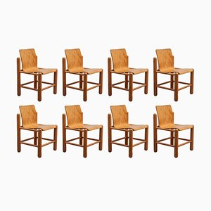 Dänische Esszimmerstühle von Knud Friis & Elmar Moltke Nielsen, 1970er, 8er Set