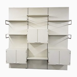 Dutch White Wall Unit from Pastoe, 1970s