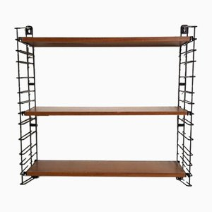 Dutch Teak and Metal Shelf by Tomado, 1960s