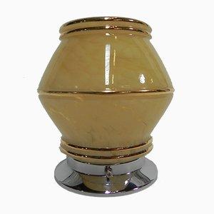 Lámpara de techo Art Déco vintage de vidrio, años 30