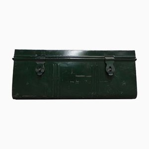 Vintage Industrial Green Trunk, 1950s