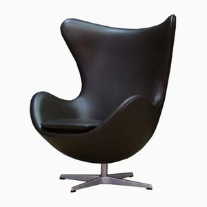 Vintage Danish Egg Swivel Chair by Arne Jacobsen for Fritz Hansen, 1980s