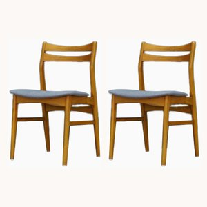 Vintage Scandinavian Dining Chairs, 1960s, Set of 2