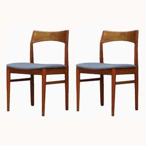 Chaises de Salle à Manger Vintage en Teck par Henning Kjærnulf pour Vejle Mobelfabrik, Danemark, 1960s, Set de 2