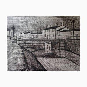 Le Canal - L'Écluse Lithograph by Bernard Buffet, 1955