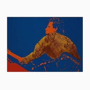 Keith Richards Lithografie von Ivan Messac, 2012