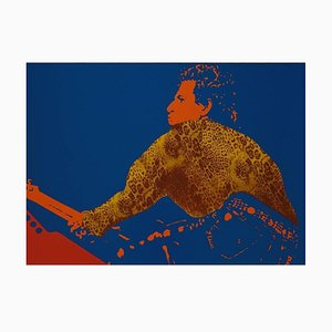 Lithographie Keith Richards par Ivan Messac, 2012