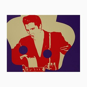 Elvis Presley Lithograph by Ivan Messac, 2012