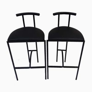 Vintage Stools by Rodney Kinsman for Bieffeplast, 1980s, Set of 2