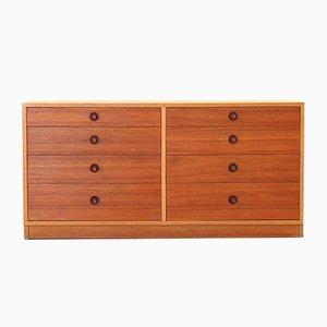 Vintage Modernist Oak & Teak Dresser by Børge Mogensen for Ry Møbler, 1960s