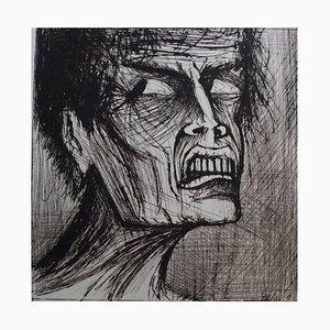 L'Enfer - Angelo Lithografie von Bernard Buffet, 1976