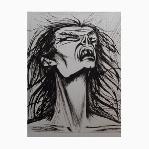 L'Enfer - Figure Edentée Lithograph by Bernard Buffet, 1976