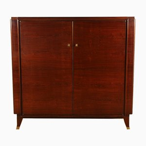 Art Deco Rosewood Highboard Cabinet by Jules Leleu, 1930s
