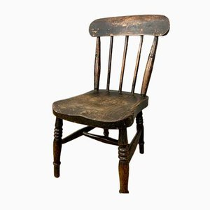 Antique Victorian English Childrens Chair