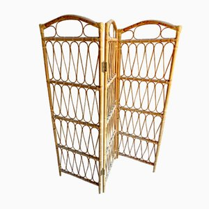Bamboo & Rattan Room Divider, 1970s