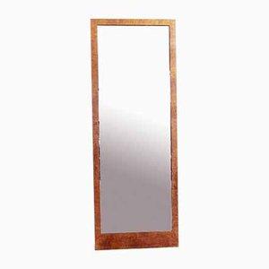 Großer abgeschrägter Vintage Spiegel mit Rahmen aus Nusswurzelholz von Bas Van Pelt, 1960er