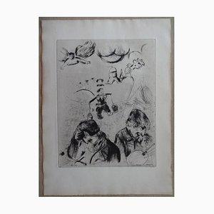 Les Âmes Mortes Radierung von Marc Chagall, 1950er