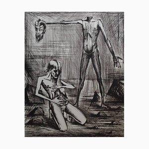 L'Enfer - Tête Lithograph by Bernard Buffet, 1976
