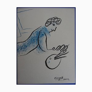 The Blue Painter Lithograph by Marc Chagall, 1968