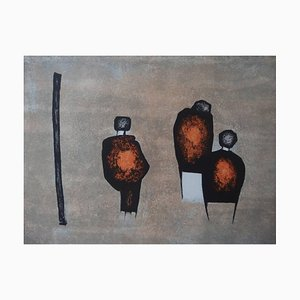 Three Characters Lithografie von Witold K, 1967
