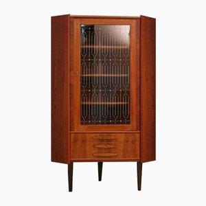 Vintage Danish Teak Corner Cabinet, 1970s