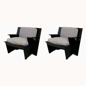 Mod. Arighi Lounge Chairs by Umberto Riva for Poltronova, 1986, Set of 2