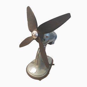 Ventilatore vintage in metallo, anni '60