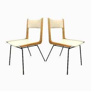 Vintage Italian Boomerang Chairs by Carlo de Carli, 1950s, Set of 2