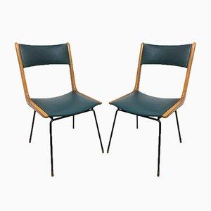 Vintage Italian Boomerang Chairs by Carlo de Carli, 1950s, Set of 2