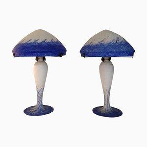 Große Art Déco Tischlampen von Art de France, 2er Set