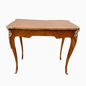 Antique Louis XV Style Rosewood Veneer Desk, 1900s