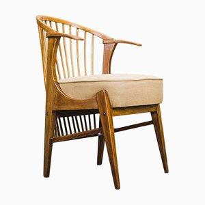 Vintage Stuhl aus Kirschholz, 1950er