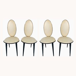 Mid-Century Dining Chairs by Umberto Mascagni, 1950s, Set of 4