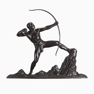 The Archer Sculpture by Lucien Gibert, 1920s
