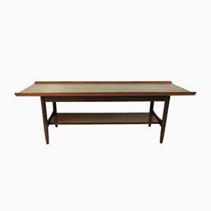 Mid-Century Teak 2-Tier Coffee Table