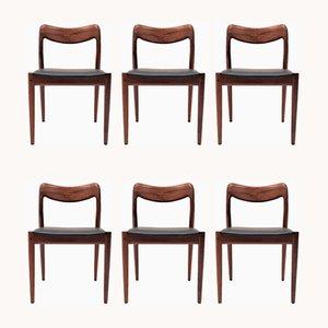 Chaises de Salle à Manger en Palissandre par Johannes Andersen pour Uldum Møbelfabrik, 1960s, Set de 6