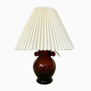 Amphorenförmige italienische Vintage Tischlampe aus Muranoglas, 1950er