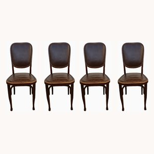 Antique Bistro Chairs from Baumann, 1900s, Set of 4