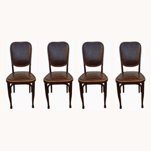 Chaises de Bistrot Antiques de Baumann, 1900s, Set de 4