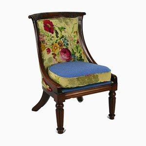Antiker Regency Beistellstuhl aus Palisander