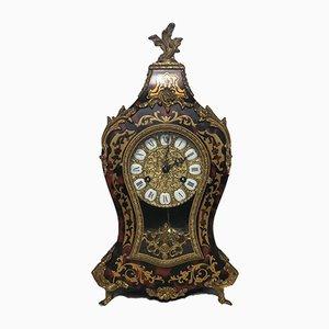 Grande Horloge de Cheminée Style Louis XVI Dorée, France, 1970s
