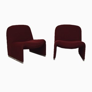 Alky Lounge Chairs by Giancarlo Piretti, 1970s, Set of 2